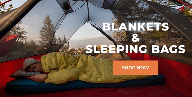 sleeping bag and blankets